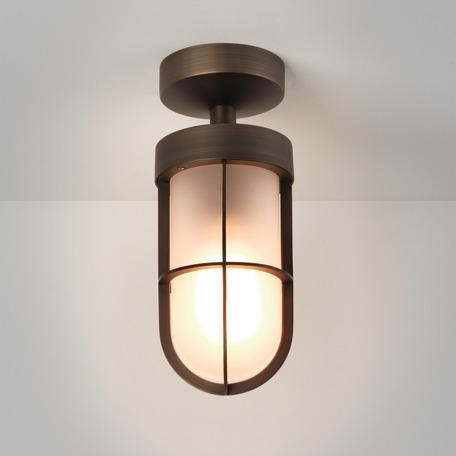 Потолочный светильник Astro Cabin 1368028 (8278), IP44, 1xE27x12W, бронза, прозрачный, металл, металл со стеклом