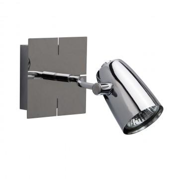 Потолочный светильник с регулировкой направления света De Markt Алгол 506021801, 1xGU10x50W, хром, металл