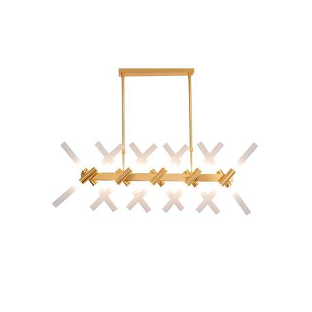 Подвесной светильник Lumina Deco Alford LDP 6036-20 GD, 24xG9x20W, золото, белый, металл, стекло