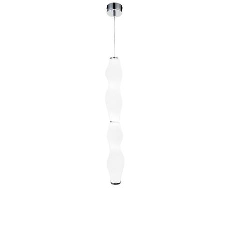 Подвесной светодиодный светильник Lumina Deco Signia LDP 6833-2 CHR+WT, LED 10W 4000K, хром, белый, металл, стекло