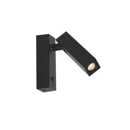 Настенный светодиодный светильник с регулировкой направления света Favourite Eckig 2403-1W, LED 2W, 4000K (дневной), черный, металл