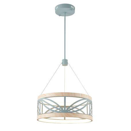 Подвесной светодиодный светильник Favourite Yolandi 2421-5P, LED 56W 4000K 3232lm, голубой, металл