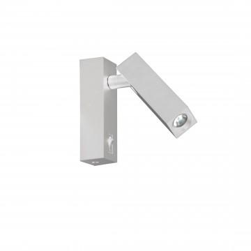 Настенный светодиодный светильник с регулировкой направления света Favourite Eckig 2402-1W, LED 2W 4000K (дневной)