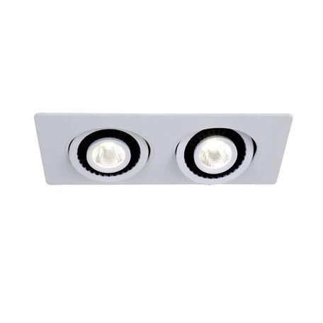 Встраиваемый светодиодный светильник Favourite Cardine 2417-2U, LED 10W 4000K 800lm, белый, металл