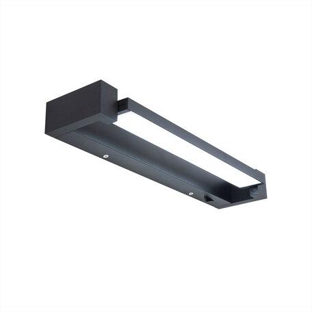 Светодиодный светильник Citilux Визор CL708241N, LED 12W, черный, черный с белым, металл, пластик с металлом, металл с пластиком