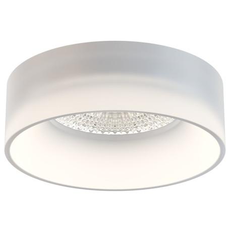 Встраиваемый светильник Maytoni DL046-01W, белый, пластик