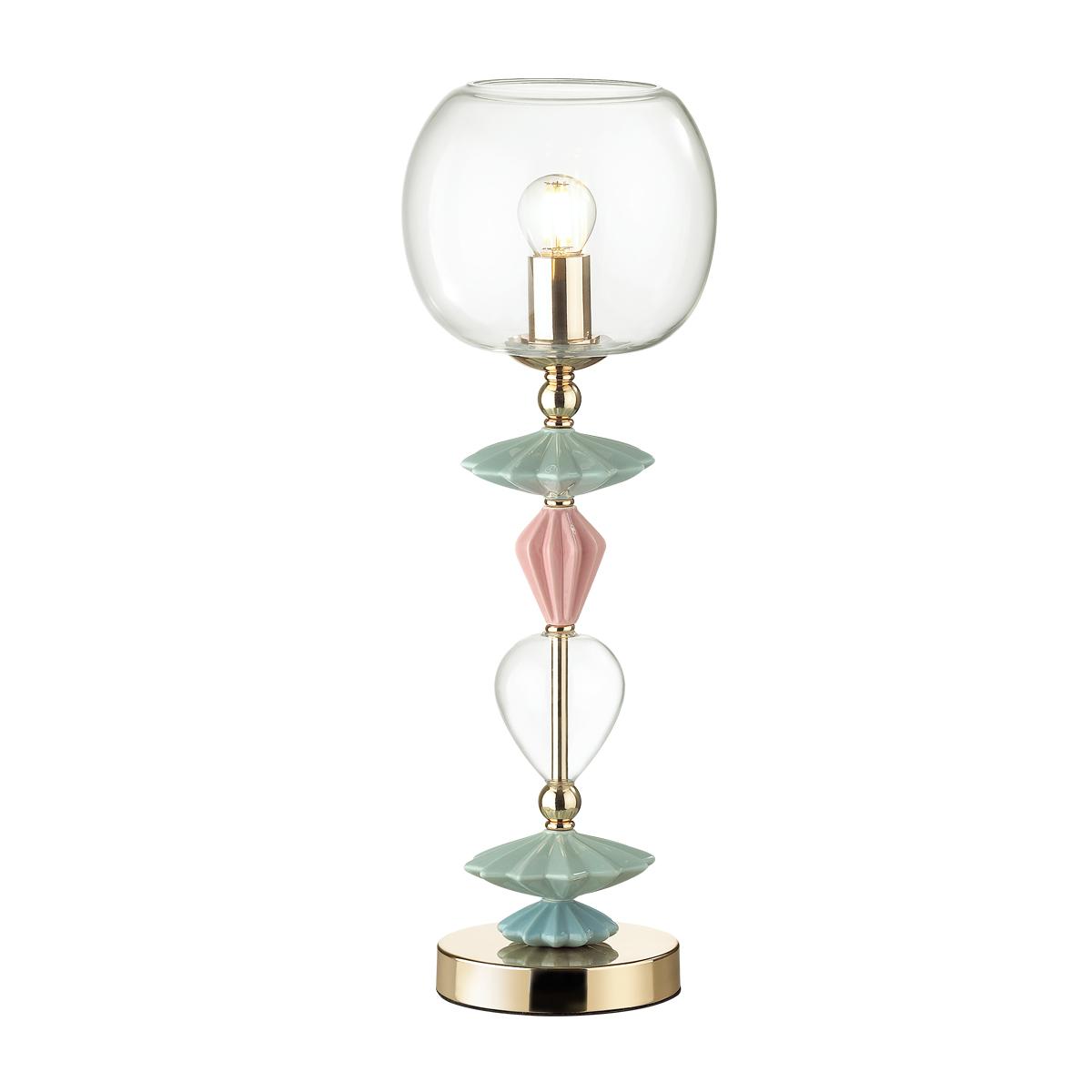 Настольная лампа Odeon Light Classic Bizet 4855/1T, 1xE14x40W, разноцветный, прозрачный, керамика, стекло - фото 1