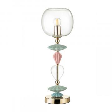 Настольная лампа Odeon Light Classic Bizet 4855/1T, 1xE14x40W, разноцветный, прозрачный, керамика, стекло - миниатюра 2