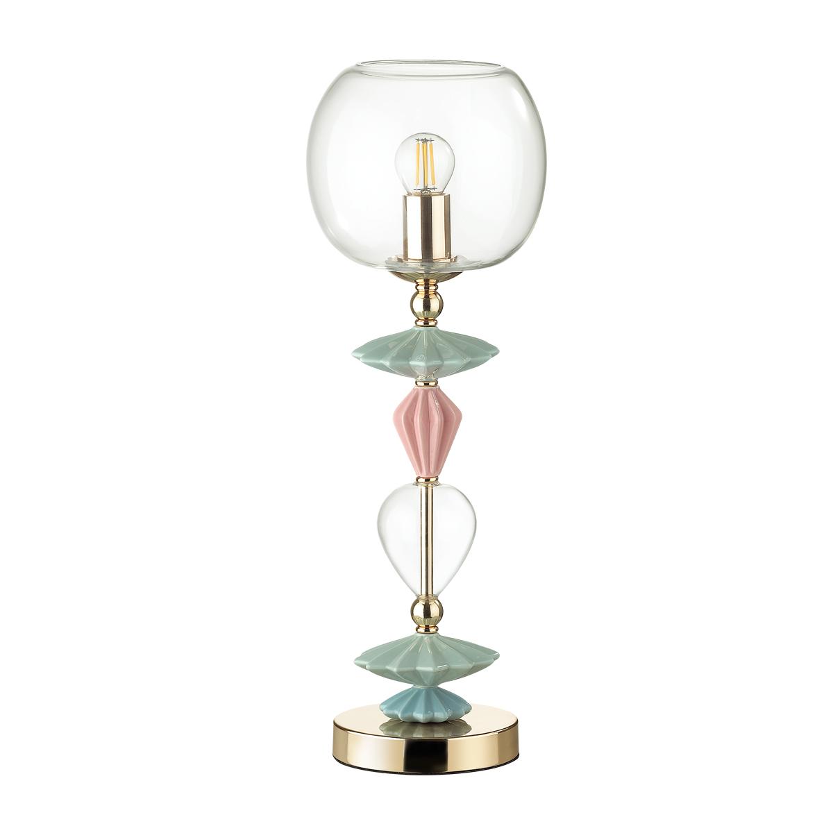 Настольная лампа Odeon Light Classic Bizet 4855/1T, 1xE14x40W, разноцветный, прозрачный, керамика, стекло - фото 2