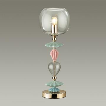 Настольная лампа Odeon Light Classic Bizet 4855/1T, 1xE14x40W, разноцветный, прозрачный, керамика, стекло - миниатюра 3
