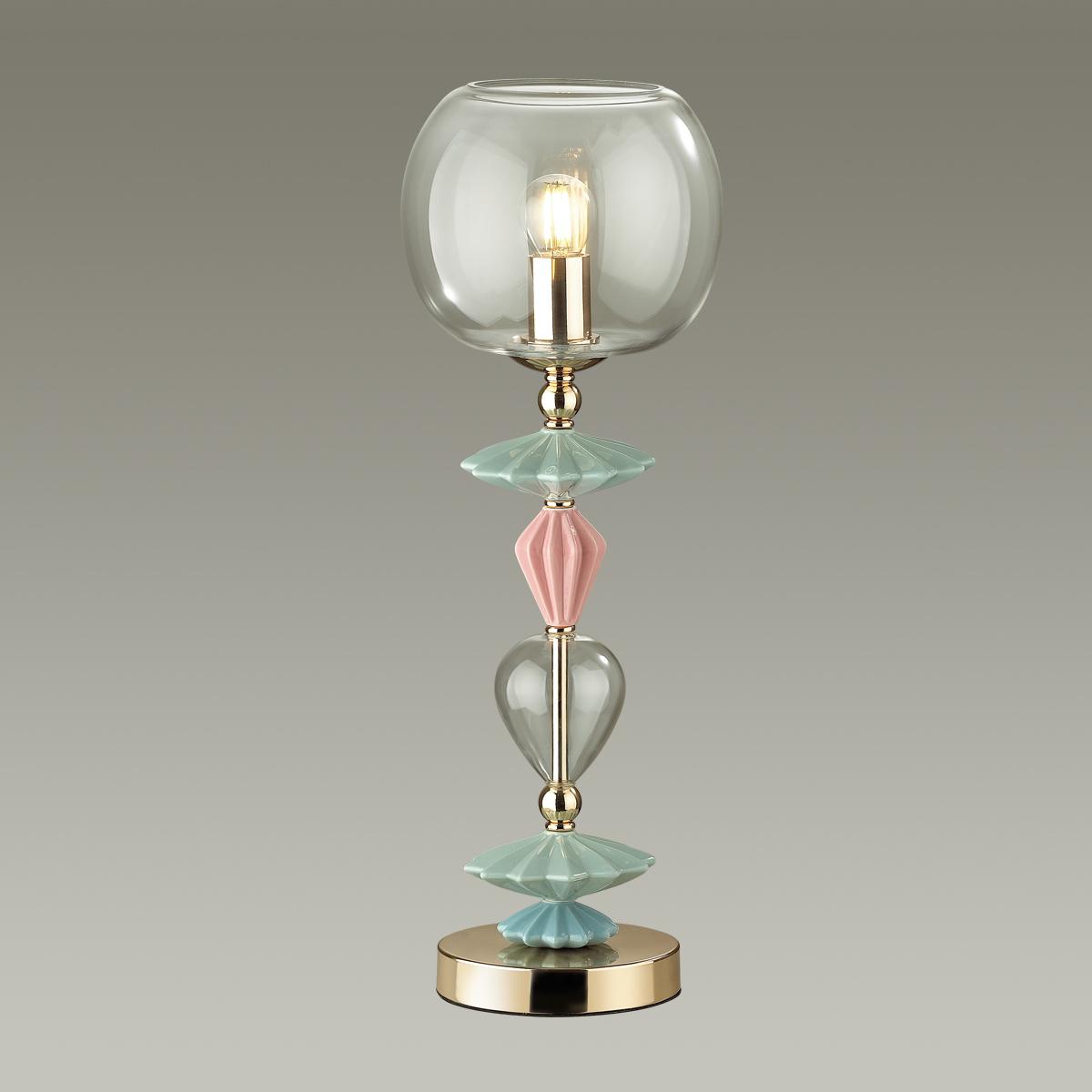 Настольная лампа Odeon Light Classic Bizet 4855/1T, 1xE14x40W, разноцветный, прозрачный, керамика, стекло - фото 3