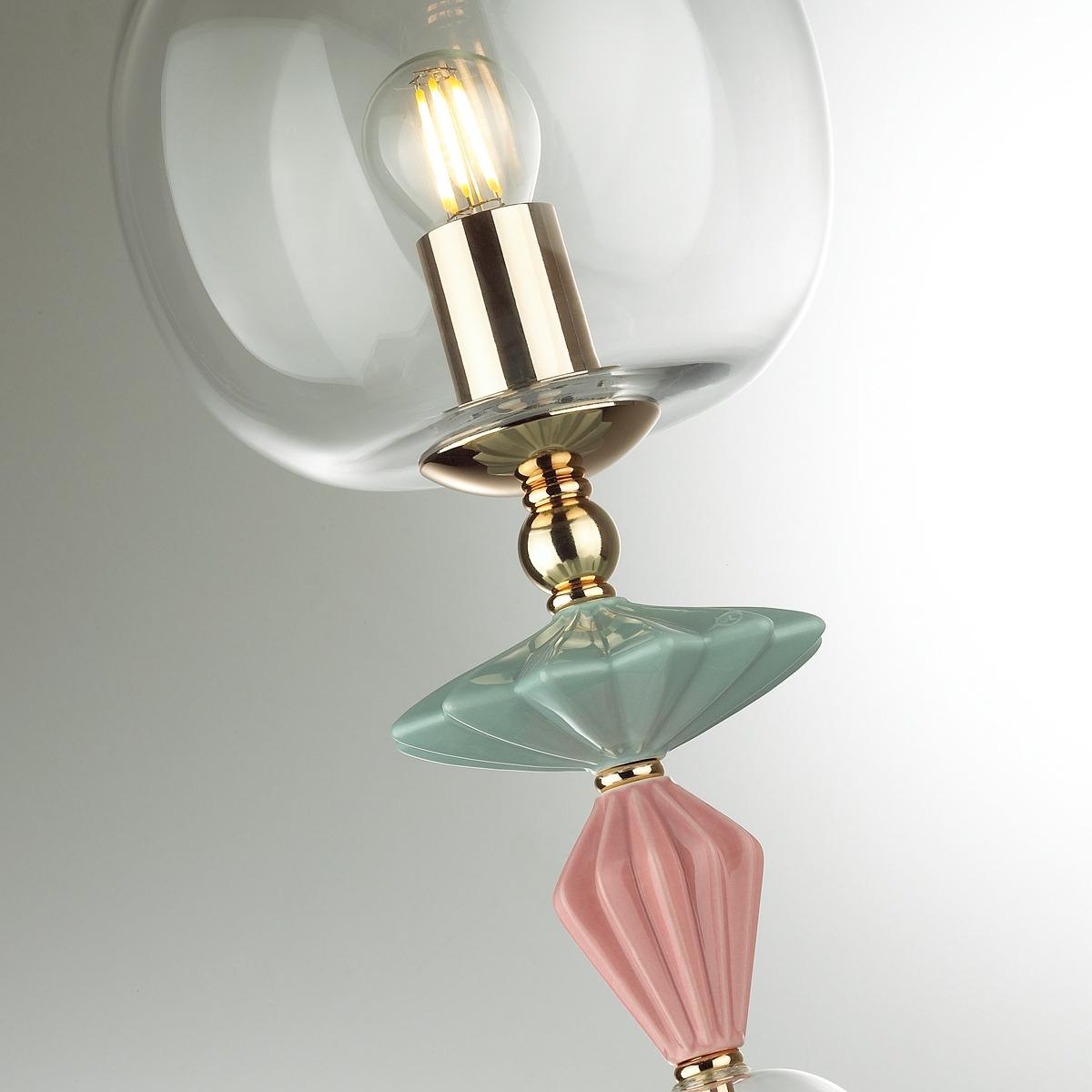 Настольная лампа Odeon Light Classic Bizet 4855/1T, 1xE14x40W, разноцветный, прозрачный, керамика, стекло - фото 6