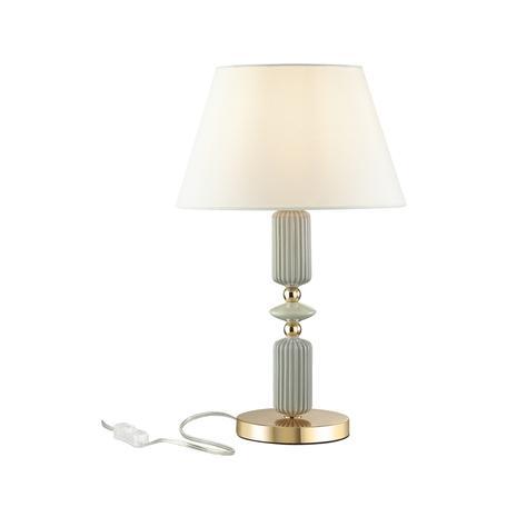 Настольная лампа Odeon Light Classic Candy 4861/1TA, 1xE27x60W, бирюзовый, белый, керамика