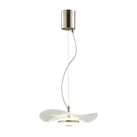 Подвесной светодиодный светильник Odeon Light L-Vision Fluent 4856/10LA, LED 10W, никель, прозрачный, металл, стекло