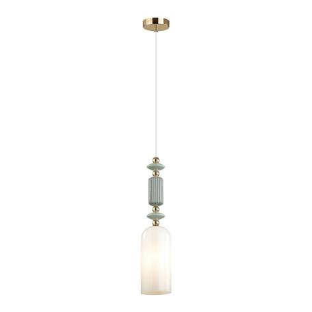 Подвесной светильник Odeon Light Classic Candy 4861/1A, 1xE14x40W, разноцветный, белый, металл, керамика, стекло