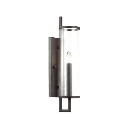 Бра Odeon Light Country Rena 4654/1W, 1xE27x60W, черный, прозрачный, металл, стекло