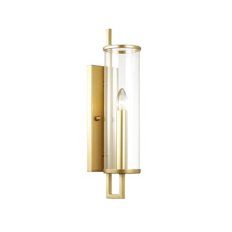 Бра Odeon Light Rena 4655/1W, 1xE27x60W, золото, прозрачный, металл, стекло