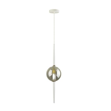 Подвесной светильник Odeon Light Pendant Lazia 4683/1, 1xG9x5W, белый, дымчатый, металл, стекло