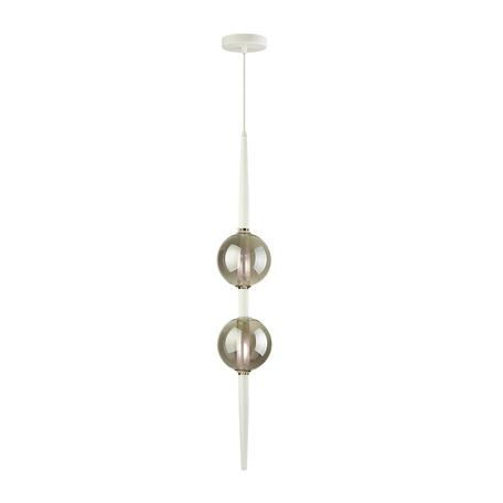 Подвесной светильник Odeon Light Pendant Lazia 4683/2, 2xG9x5W, белый, дымчатый, металл, стекло