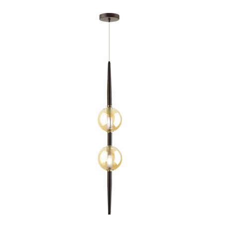 Подвесной светильник Odeon Light Pendant Lazia 4684/2, 2xG9x5W, черный, янтарь, металл, стекло