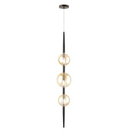 Подвесной светильник Odeon Light Pendant Lazia 4684/3, 3xG9x5W, черный, янтарь, металл, стекло