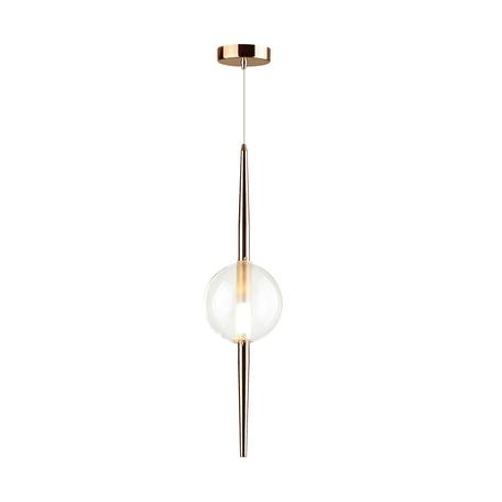 Подвесной светильник Odeon Light Pendant Lazia 4685/1, 1xG9x5W, медь, прозрачный, металл, стекло