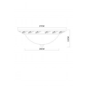 Схема с размерами Arte Lamp A3019PL-2AB