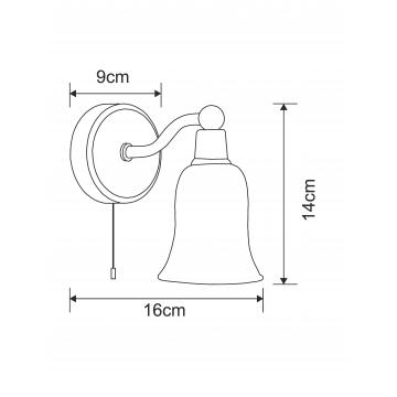 Схема с размерами Arte Lamp A2944AP-1CC