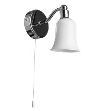 Бра Arte Lamp Aqua A2944AP-1CC, IP44, 1xG9x28W, хром, белый, металл, стекло - миниатюра 2