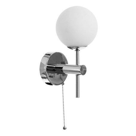 Настенный светильник Arte Lamp Aqua A4444AP-1CC, IP44, 1xG9x25W, хром, белый, металл, стекло - миниатюра 1