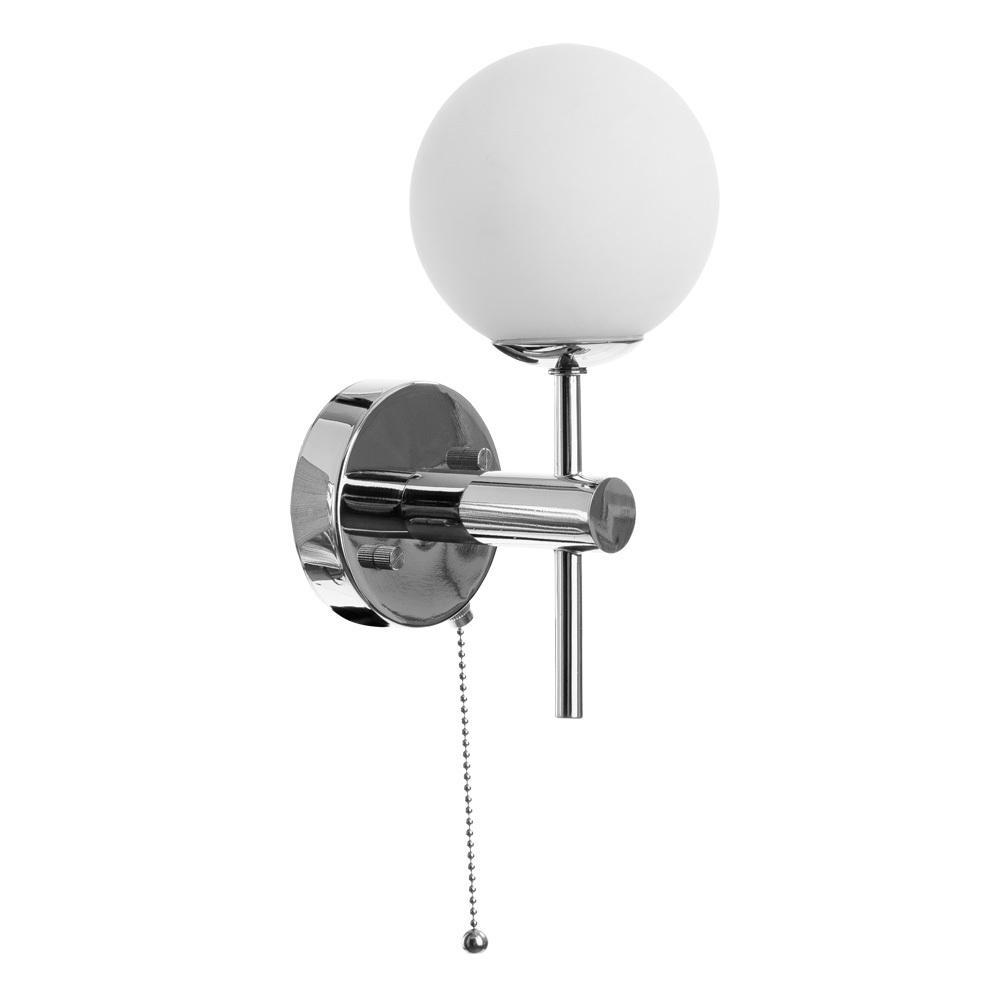 Настенный светильник Arte Lamp Aqua A4444AP-1CC, IP44, 1xG9x25W, хром, белый, металл, стекло - фото 1