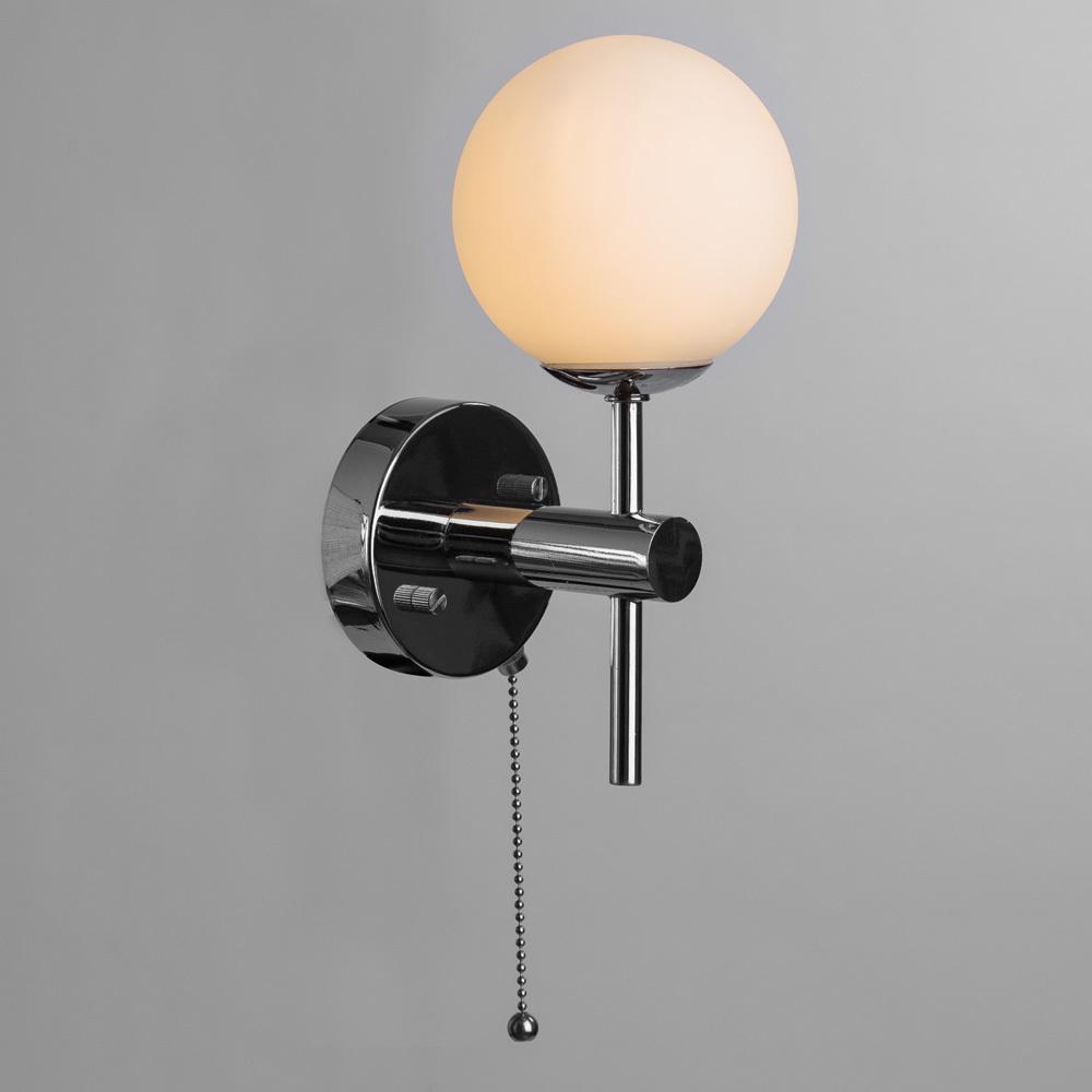 Настенный светильник Arte Lamp Aqua A4444AP-1CC, IP44, 1xG9x25W, хром, белый, металл, стекло - фото 2