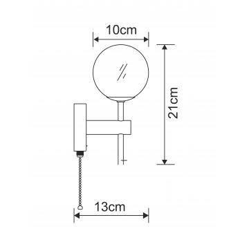 Схема с размерами Arte Lamp A4444AP-1CC