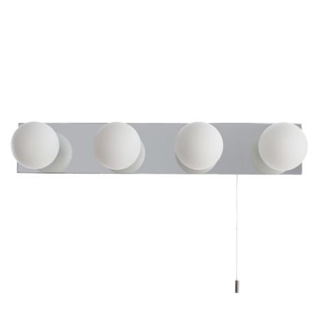 Настенный светильник Arte Lamp Aqua A4444AP-4CC, IP44, 4xG9x33W, хром, белый, металл, стекло