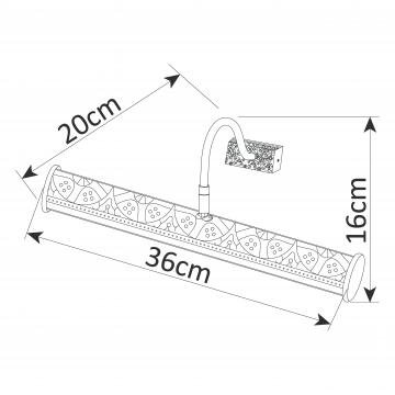 Схема с размерами Arte Lamp A5075AP-2AB