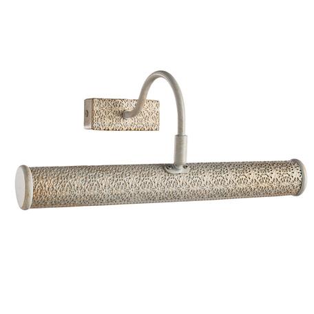 Настенный светильник для подсветки картин Arte Lamp Picture Lights Lux A5075AP-2WG, 2xE14x40W, белый с золотой патиной, металл