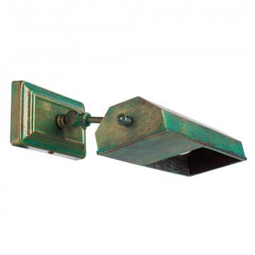 Настенный светильник для подсветки картин Arte Lamp Picture Lights Vintage A9126AP-1BG, 1xE14x40W, бирюзовый, металл