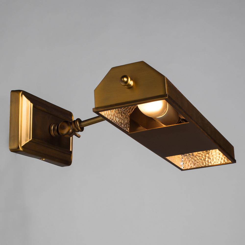 Настенный светильник для подсветки картин Arte Lamp Picture Lights Vintage A9126AP-2SR, 2xE14x40W, латунь, металл - фото 2