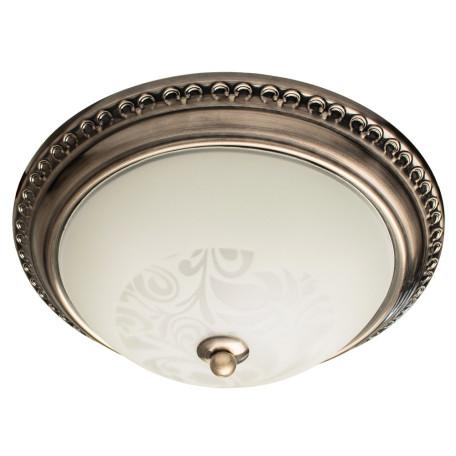 Потолочный светильник Arte Lamp Alta A3009PL-2AB, 2xE27x40W, бронза, белый, металл, стекло