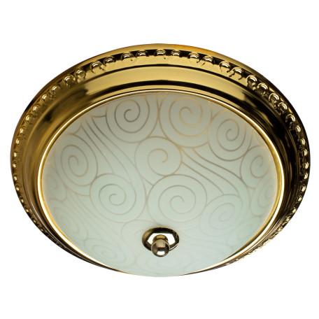 Потолочный светильник Arte Lamp Alta A3013PL-2GO, 2xE27x40W, золото, белый, металл, стекло