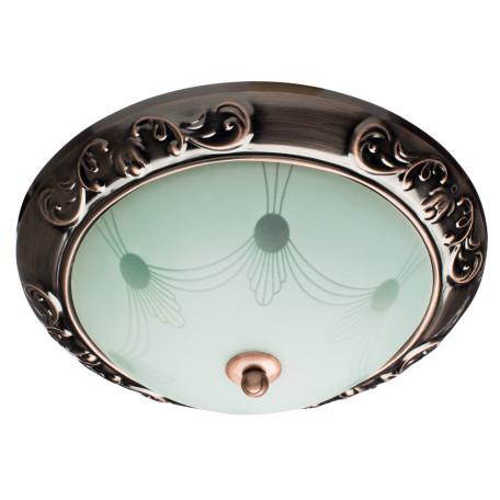 Потолочный светильник Arte Lamp Alta A3014PL-2AC, 2xE27x40W, медь, белый, металл, стекло