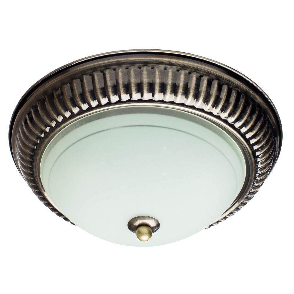 Потолочный светильник Arte Lamp Alta A3016PL-2AB, 2xE27x40W, бронза, белый, металл, стекло - фото 1