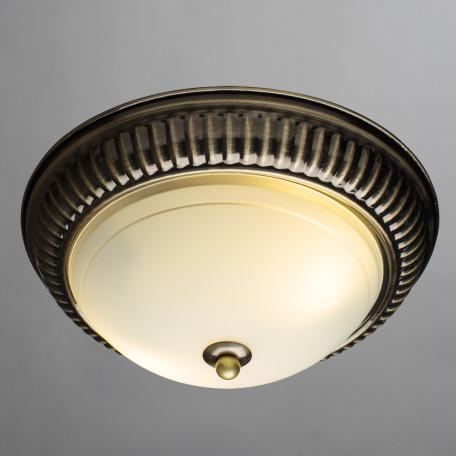 Потолочный светильник Arte Lamp Alta A3016PL-2AB, 2xE27x40W, бронза, белый, металл, стекло - миниатюра 2