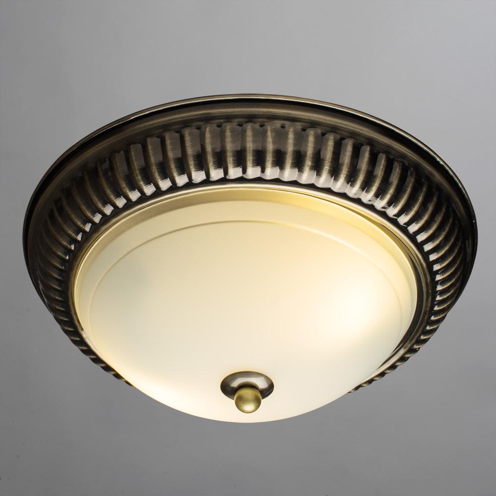 Потолочный светильник Arte Lamp Alta A3016PL-2AB, 2xE27x40W, бронза, белый, металл, стекло - фото 2