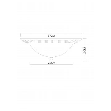 Схема с размерами Arte Lamp A3016PL-2AB