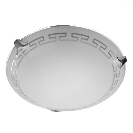 Потолочный светильник Arte Lamp Antica A4220PL-2CC, 2xE27x60W, хром, белый, металл, стекло