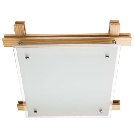 Потолочный светильник Arte Lamp Archimede A6460PL-3BR, 3xE27x60W, коричневый, белый, дерево, стекло