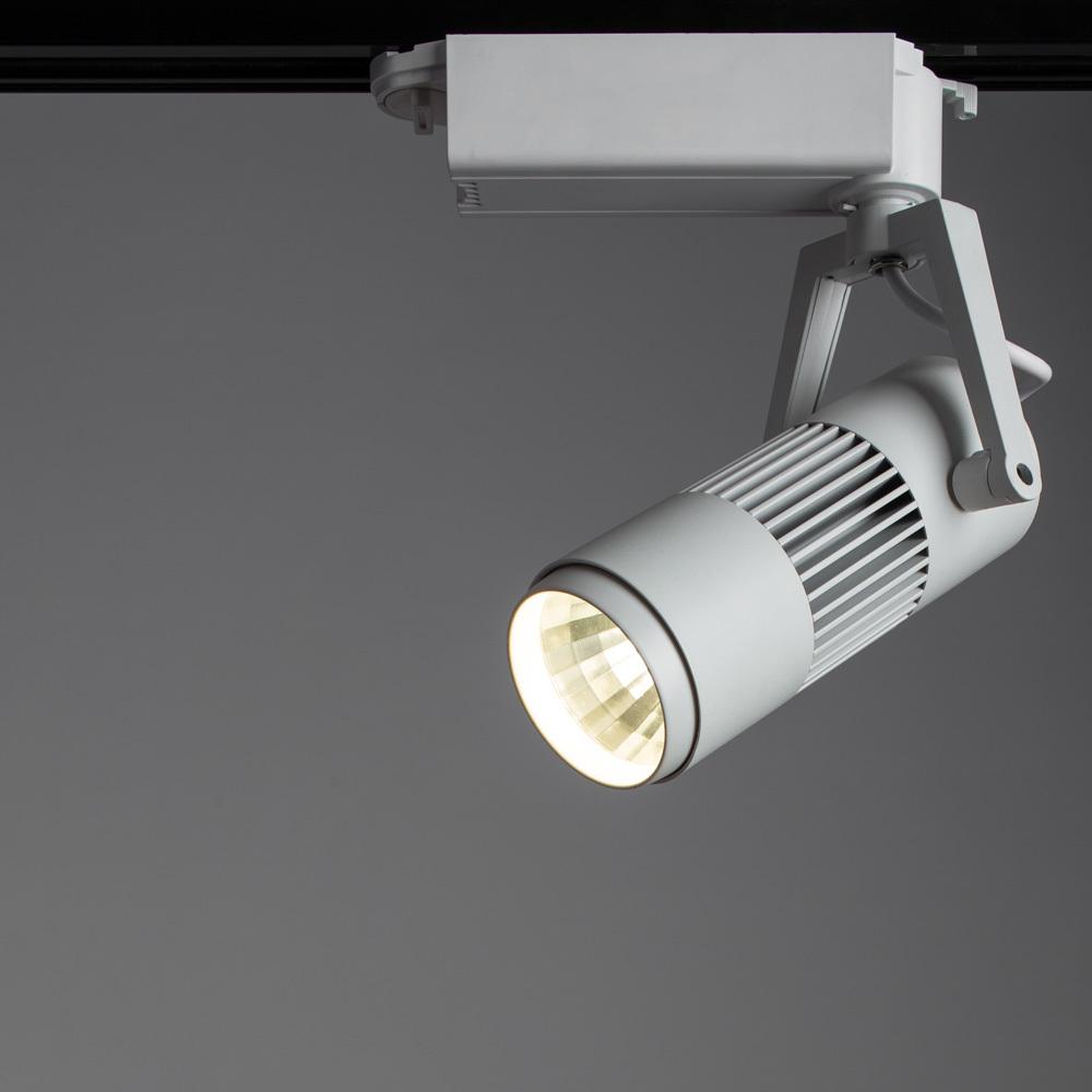Светодиодный светильник для шинной системы Arte Lamp Linea A6520PL-1WH, LED 20W, 4000K (дневной), белый, металл - фото 2