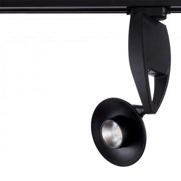 Светодиодный светильник с регулировкой направления света для шинной системы Arte Lamp Nota A4235PL-1BK, LED 35W 4000K 2700lm CRI≥80, черный, металл