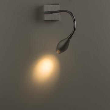 Настенный светодиодный светильник Arte Lamp Scorcio A7003AP-1SS, LED 3W 3000K (теплый), серебро, металл